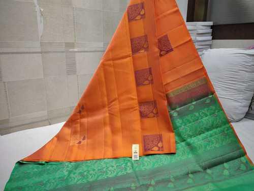 Pure Silk Double Wrap Soft Silk Saree