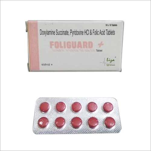 Doxylamine Succinate Pyridoxine HCI And Folic Acid Tablets