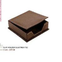 leather slip holder