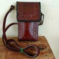 handmade leather sling bags