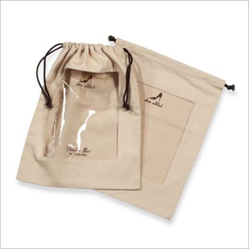 Cotton Drawstring Plain Bags
