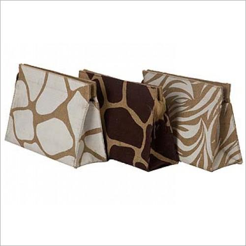 Designer Jute Cosmetic Bags