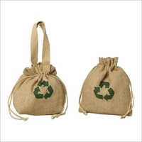 Jute Cosmetic Printed Bags