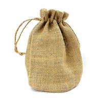 Jute Drawstring Plain Bags