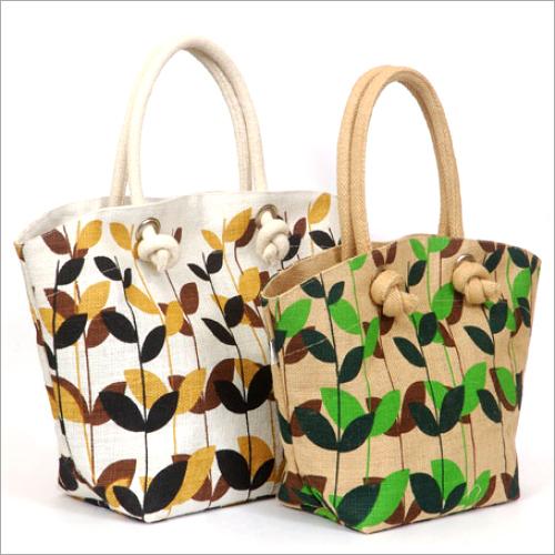 Jute Hand Printed Bags