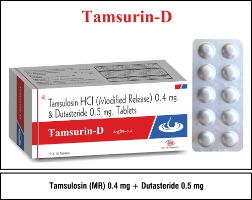 Tamsulosin 0.4mg + Dutasteride 0.5mg
