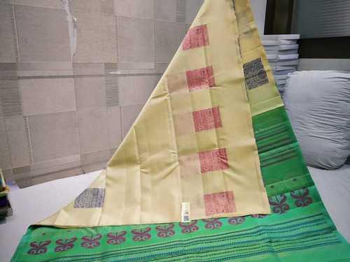 Pure Silk Butta Soft Silk Without Border Saree