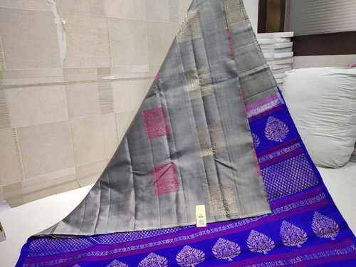 Pure Silk Without Border Silk Saree