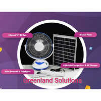 Solar Rechargeable Fan