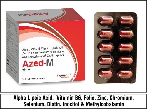 Methyclobalamin 1500mcg + ALA 100mg + Vit. B6 3mg+Folic  1.5mcg