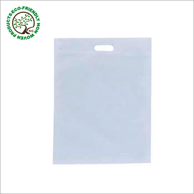 D Cut White Non Woven Bag