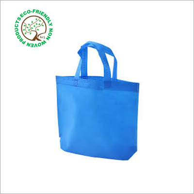 Blue Non Woven Loop Handle Bag