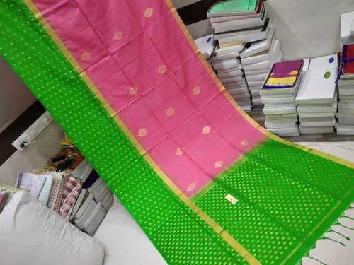 Pure Silk Double Warp Skirt Border Saree