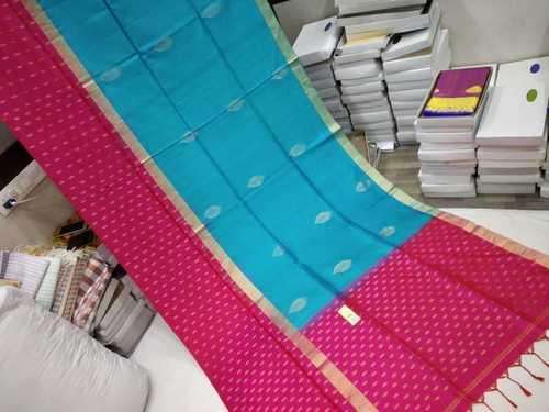 Pure Silk Turning Border Saree Double Warp