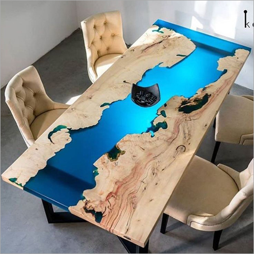 Artistic Wooden Resin Epoxy Dining Table