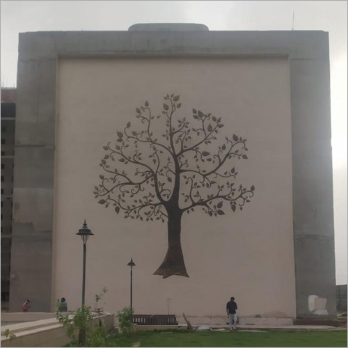 Metallic Copper Tree Mural