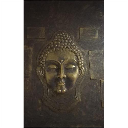 Metalic Buddha Mural