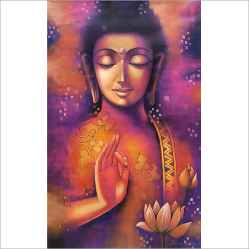Lord Buddha Wall Painting