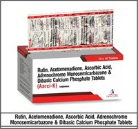 Rutin N.F 100mg+ Ascorbic Acid 100mg + Acetomenadione 20mg+ Adrenochrome Monosemicarbazone 1.0mg+ Calcium Dibasic Phosphate 150mg