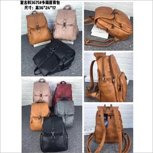 Handmade Leather Rolling Top Leather Rucksack