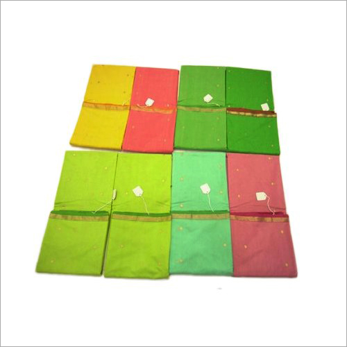 Plain Maheshwari Silk Saree