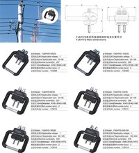 p360-360 Insulated conductor grounding wire clip(1kv)