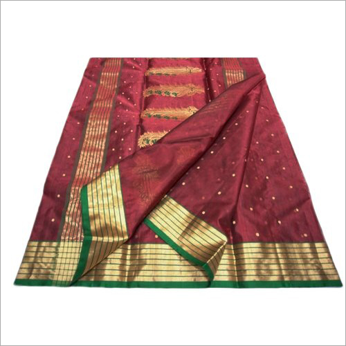 Chanderi Silk Border Saree