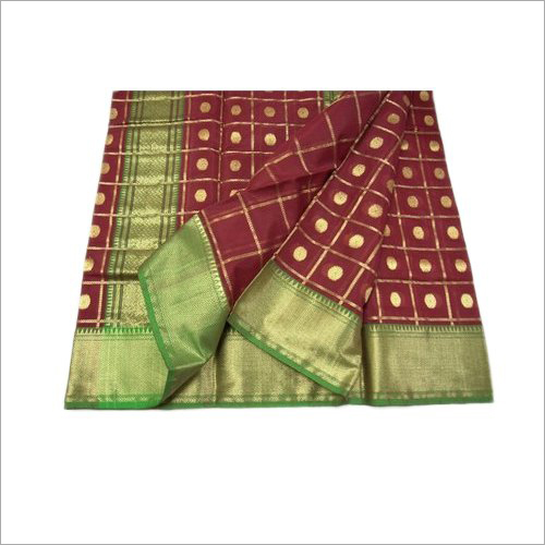 Chanderi Pure Silk Saree