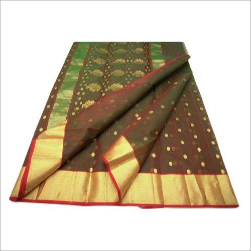 Chanderi Border Pure Silk Saree