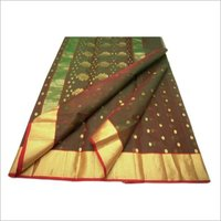 Chanderi Border Pure Silk Saree