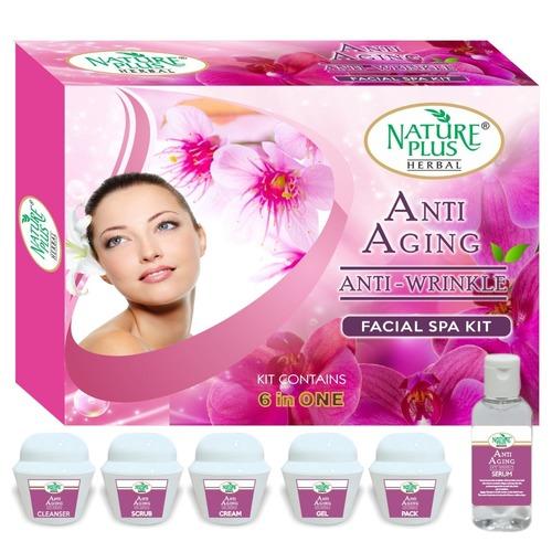 Nature Plus Herbal Anti-aging Anti-wrinkle Facial Kit, 370gm