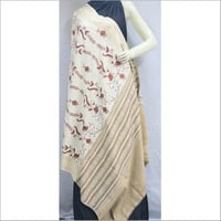 Embroidered Pearl Shawl