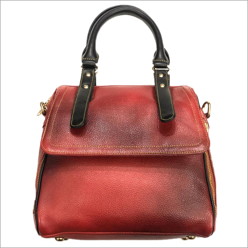 Ladies 100 Percent Pure Brown Leather Bag