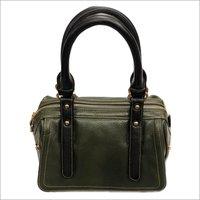Ladies 100 Percent Pure Black Leather Bag