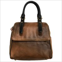 Ladies Genuine Brown Leather Bag