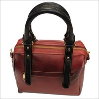 Ladies Leather Zipper Hand Bag