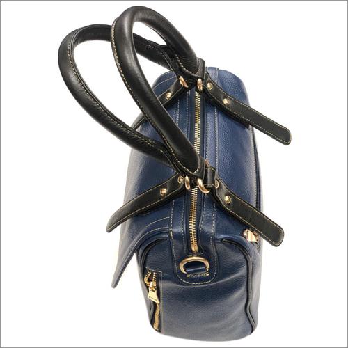 Ladies Blue Leather Bag