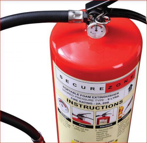 Secure Zone Foam Based Fire Extinguisher