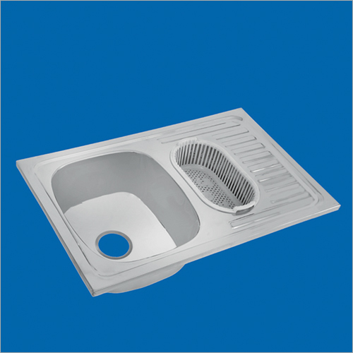 Stainless Steel One And Half Bowl With Drain Board Sink