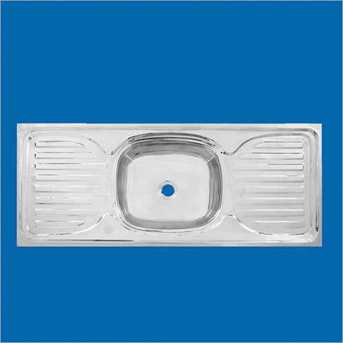 Stainless Steel Single Bowl Double Drain Sink