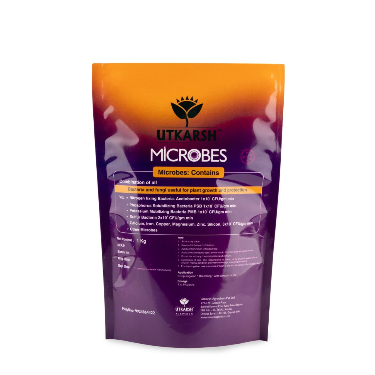 Utkarsh Microbes  - Combination of Fungus and Bacteria for Growth and Protection