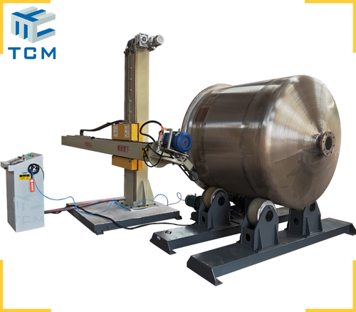 Steel storage tank automatic polishing machine