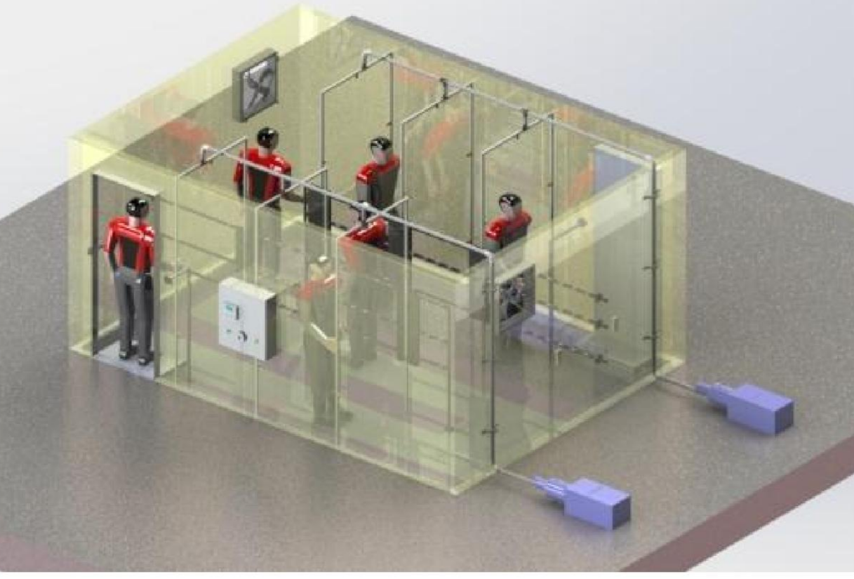 Human Tunnel Disinfection System