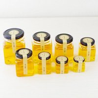 Popular Sell Square Shaped Glass Jar Fror Honey