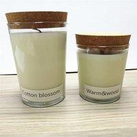 Hand Cut Empty Round Candle Jar