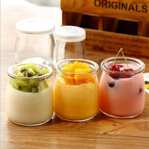 200ml Crown Milk Pudding Packing Glass Bottle For Milk glass Bottle