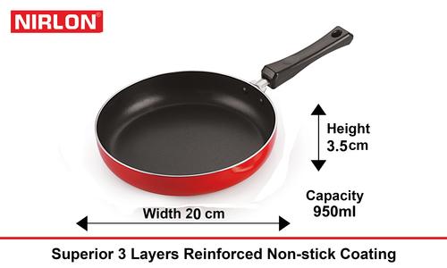 Aluminum Alloy Nirlon Aluminium Non-Stick Frying Pan, 20 Cm