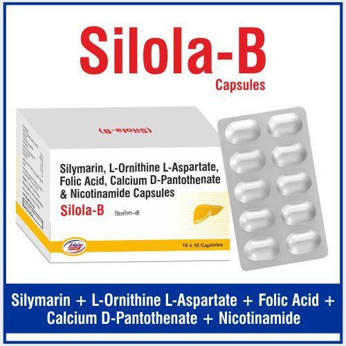 L-Ornithine L-Aspartate 250 mg +Folic Acid I.P 1mg +Nicotinamide I.P 45mg+ Calcium D-Pantothenate I.P 10mg+ Silymarin 70mg