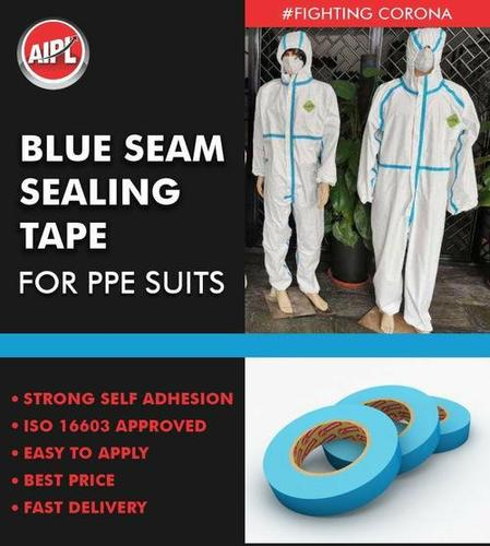 Blue Seam Sealing Tape For PPE Suits