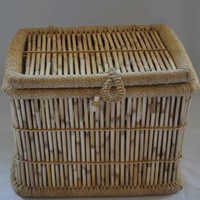 Handcrafted Cane Laundry Box